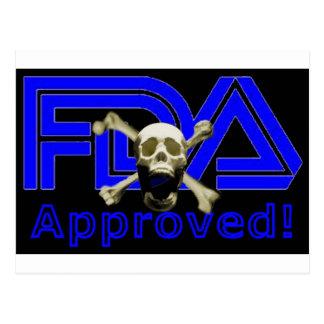 FDA Approved (Black) Postcard