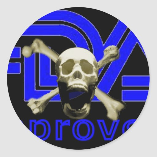 FDA Approved (Black) Stickers