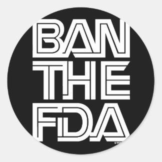 FDA PEGATINA REDONDA