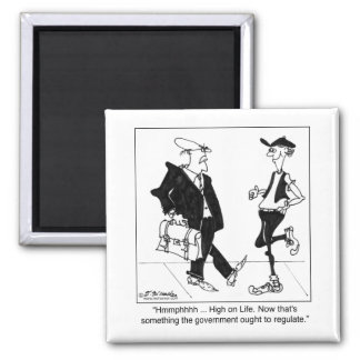 FDA Regulating Being High on Life 2 Inch Square Magnet