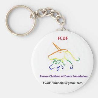 FDCF: Niños futuros del Swag de la fundación de lo Llavero Redondo Tipo Pin