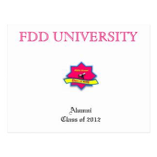 FDD University Alumni merchandise Postcard