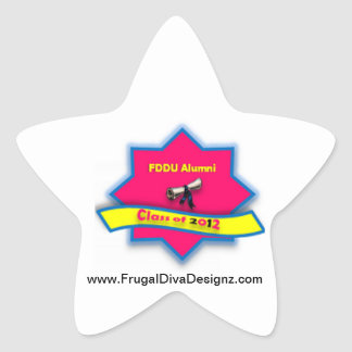 FDD University badge star sticker