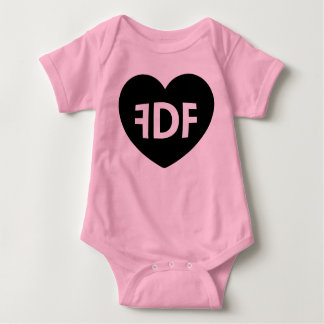 FDF Heart and Wings Pink Baby Thing T-shirt