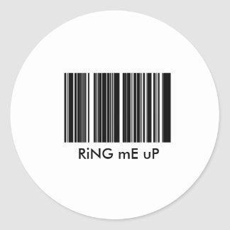 FDL RiNG mE uP Classic Round Sticker