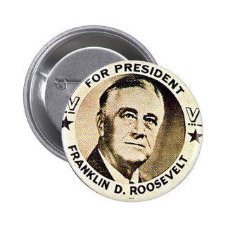 FDR 1940 - Botón Pin Redondo De 2 Pulgadas