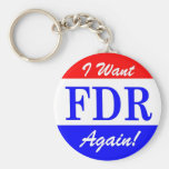 FDR - America's Greatest President Tribute Basic Round Button Keychain