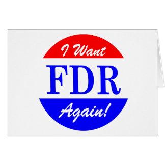 FDR - America's Greatest President Tribute Card