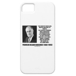 FDR Country Needs Bold Persistent Experimentation iPhone SE/5/5s Case