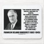 FDR Country Needs Bold Persistent Experimentation Mouse Pad