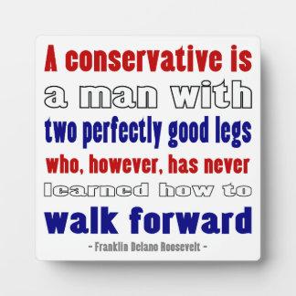 FDR Defines Conservatives Darker Plaque