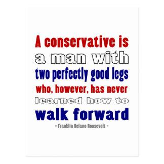 FDR Defines Conservatives Darker Postcard
