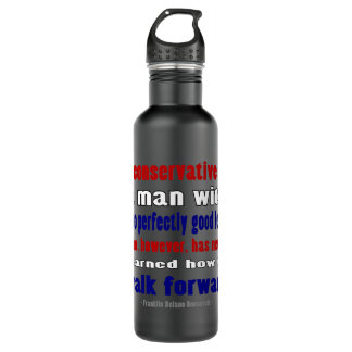 FDR Defines Conservatives Darker Water Bottle