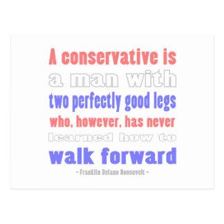 FDR Defines COnservatives Postcard