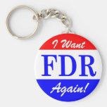 FDR - El presidente más grande Tribute de América Llavero Redondo Tipo Pin