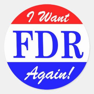 FDR - El presidente más grande Tribute de América Pegatina Redonda