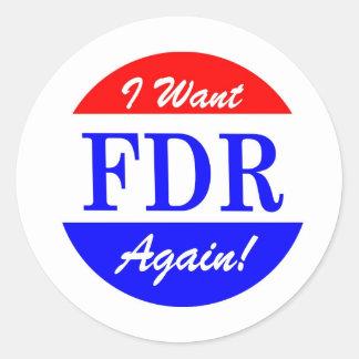 FDR - El presidente más grande Tribute de América Etiquetas Redondas