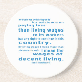FDR en salarios Posavasos Personalizados