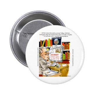 FDR Fireside Speech Funny Cartoon Gifts & Tees Button