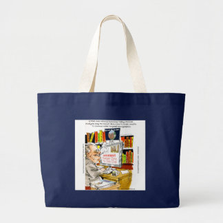 FDR Fireside Speech Funny Cartoon Gifts & Tees Large Tote Bag