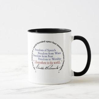 FDR Four Freedoms Tribute Mug