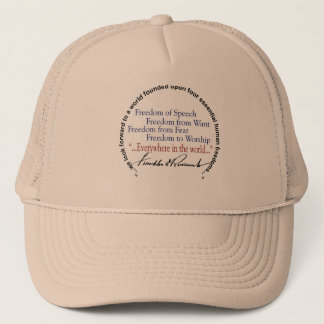 FDR Four Freedoms Tribute Trucker Hat