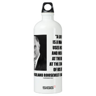 FDR Liberal Uses Legs Hands At The Behest Of Head Aluminum Water Bottle