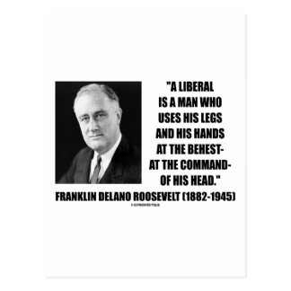 FDR Liberal Uses Legs Hands At The Behest Of Head Postcard