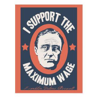 FDR Maximum Wage Postcard
