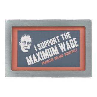 FDR Maximum Wage Rectangular Belt Buckle
