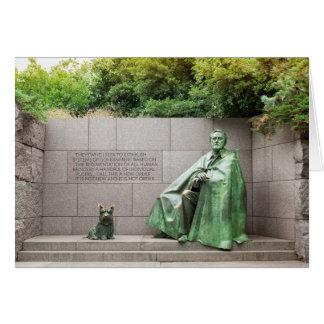 FDR Memorial in Washington DC Card