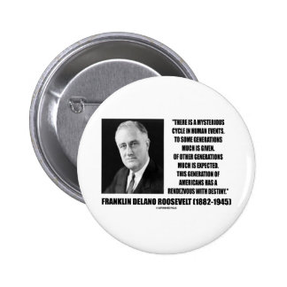 FDR Mysterious Cycle Events Rendezvous Destiny Pinback Button