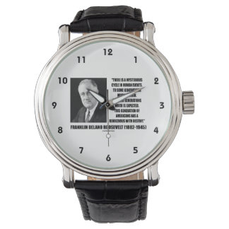 FDR Mysterious Cycle Events Rendezvous Destiny Wristwatches