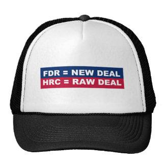 FDR = New Deal; HRC = Raw Deal Trucker Hat