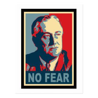 FDR ningún miedo Postal