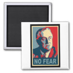 FDR No Fear 2 Inch Square Magnet