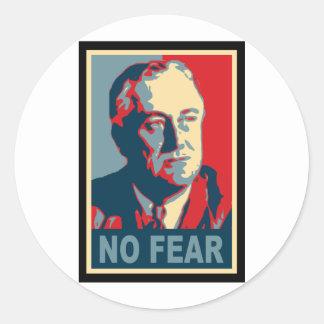 FDR No Fear Classic Round Sticker
