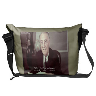 FDR & Nothing To Fear Quote Messenger Bag