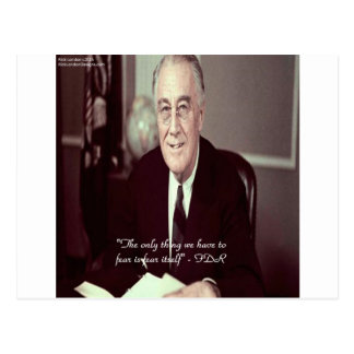 FDR & Nothing To Fear Quote Postcard