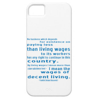 FDR on Wages iPhone 5 Covers