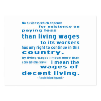 FDR on Wages Post Cards