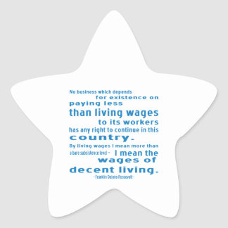 FDR on Wages Star Sticker