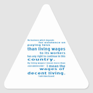 FDR on Wages Triangle Sticker