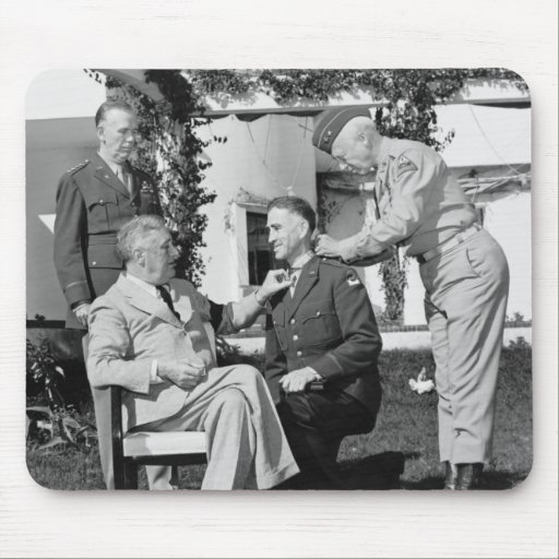 FDR Presenting Medal Of Honor To William Wilbur Mousepads