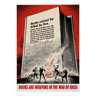 FDR Quote On Book Burning Posters
