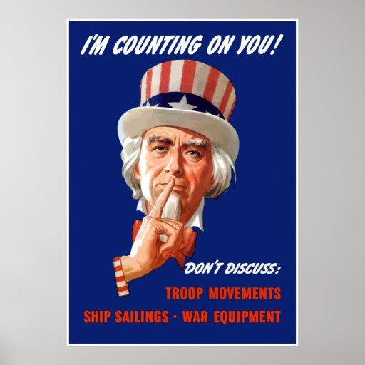 FDR Uncle Sam -- Border Poster