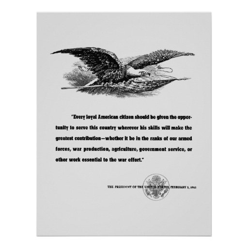 FDR War Quote Poster