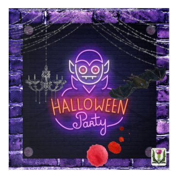 Halloween Themed FD's Skeerie Halloweenie Artwork 53086A6 Acrylic Wall Art