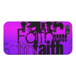Fe; Azul violeta y magenta vibrantes iPhone 5 Carcasas
