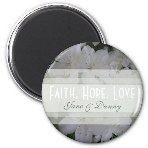 Fe blanca de la azalea, esperanza, imán del amor